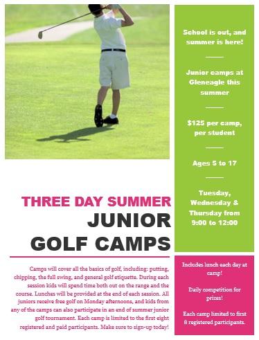 2015 Junior camp flyer